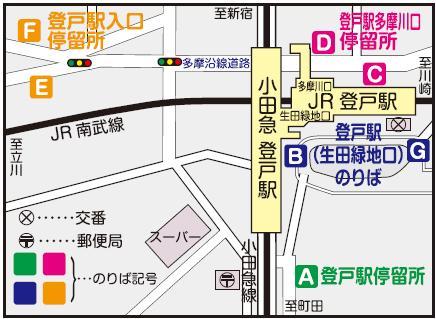 登戸駅バス乗り場